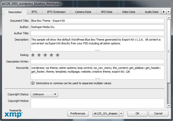 Convert a PSD to XML and JSON | Export Kit