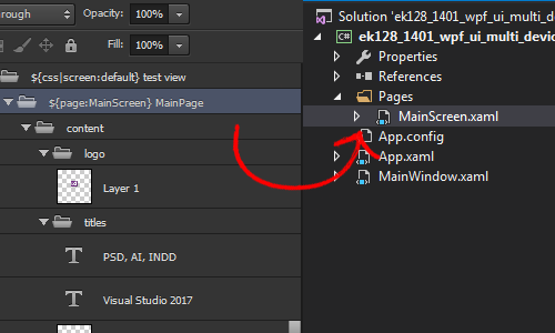 PSD to Visual Studio XAML UI with .NET and C# | Export Kit